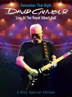 David Gilmour - Remember That Night - Live At The Royal Albert Hall (2007) - 2 DVD Special Edition Box Set