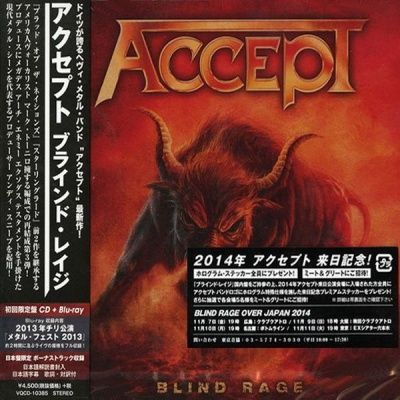 Accept - Blind Rage (2014) - CD+Blu-ray Limited Edition