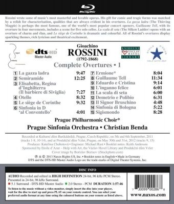 Rossini - Complete Overtures 1 (2013) (Blu-ray Audio)