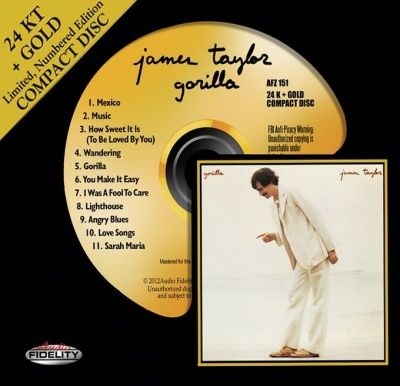 James Taylor - Gorilla (1975) - 24 KT Gold Numbered Limited Edition